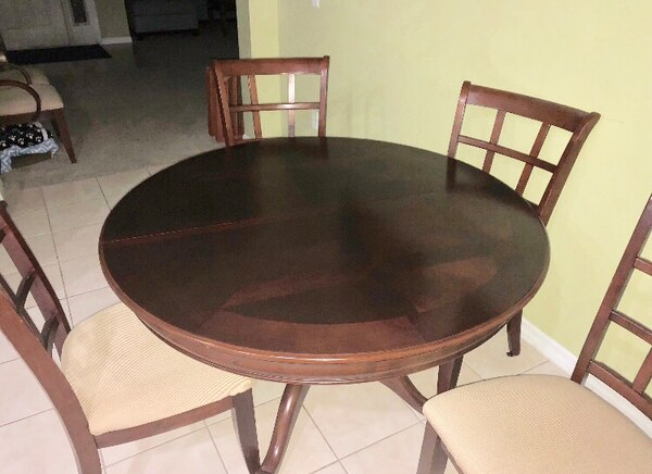 Used Dinette Dining Room Table With 6 Chairs For Sale In