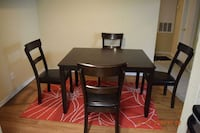 5 piece dining table set with cushion chairs Sugar Land, 77479