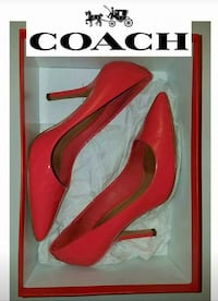 COACH Heels (size 7) coral-colored Garland, 75042