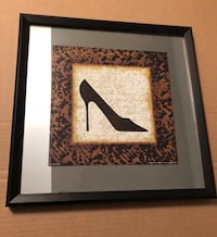 Parisian Chic mirrored shoe art - retail: $125 Toronto, M2J 1Z1