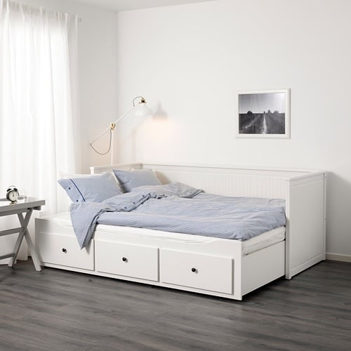 Hemnes Daybed with 3 drawers/2 mattresses, white, Twin