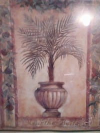brown wooden framed painting of brown and white flower Chatsworth