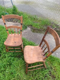 Antique Very Primitive A Pair Of Chair  Redwood City