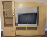 TV Entertainment Centre Stand Console Wall Unit furniture with Storage 783 km