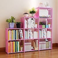 NEW Pink book shelf 30 inch, bookcase folding book shelves(9 cubes) Greenbelt, 20770