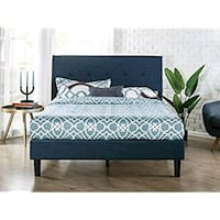 black wooden bed frame with white mattress Bakersfield, 93311