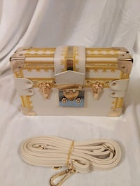 Gold and White Clutch