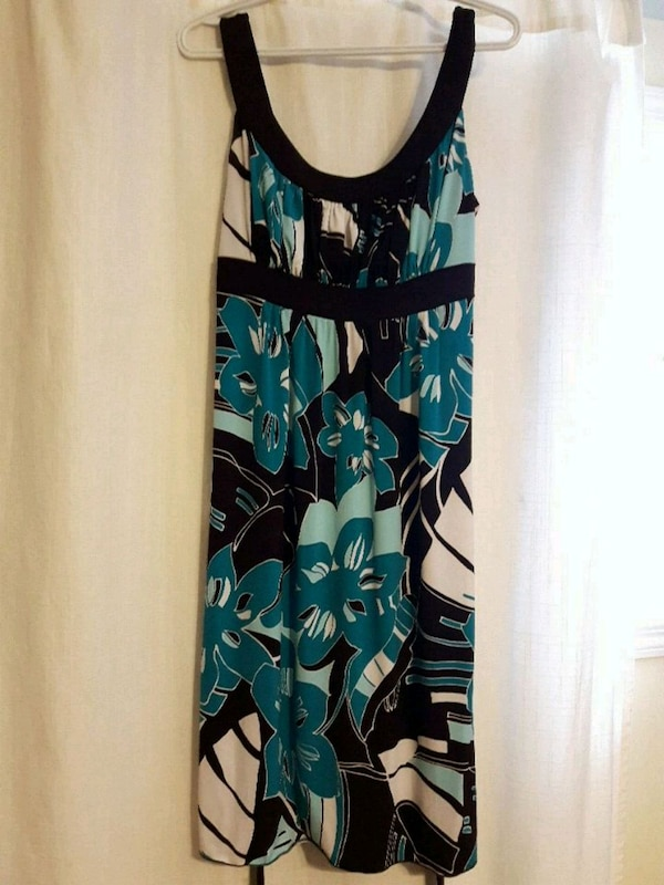 Brown and teal dress