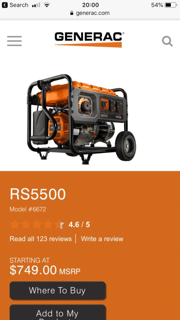 Used and new generator in Fayetteville - letgo