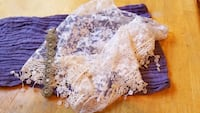 Lacy baby swaddle and headband. Great for photo. Murray, 84123