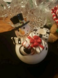 SNOWMAN CANDLE HOLDER, CHRISTMAS