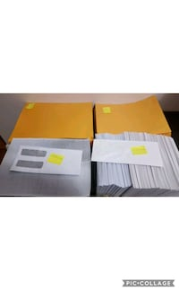 Lot envelopes size written on the pictures