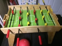 Brown and green wooden soccer table San Francisco, 94112
