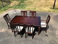 Dining room set- gorgeous cherry with 6 brand new upholstered chairs Chester, 07930