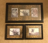 Three brown safari framed wall decors Winston-Salem, 27127