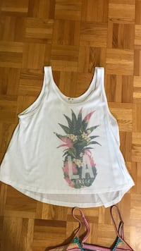 White and pink floral tank top size large 3486 km