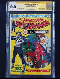 Amazing Spider-Man 129 CGC 6.5 Signed by Gerry Conway (First Punisher) Comic Book Toronto, M2N 5N9
