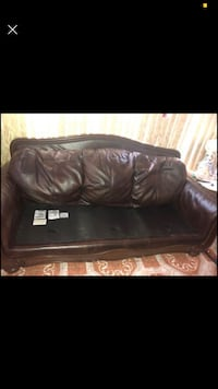 Real Leather with trim wood Inwood, 11096
