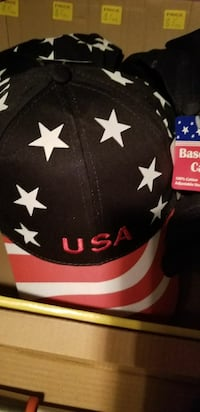 USA star baseball cap Also solid Red or Blue