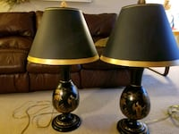 two brown-and-black table lamps Tysons, 22102