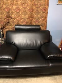 Leather couch, purchased this year.  No damage, barely used. Seats about two. Columbia, 21046