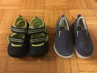 Boy's two pairs of shoes
