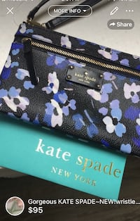 Gorgeous KATE SPADE~NEW!large wristlet built in wallet-brand new never used comes with bag a gift envelope  London, N5W 6E3