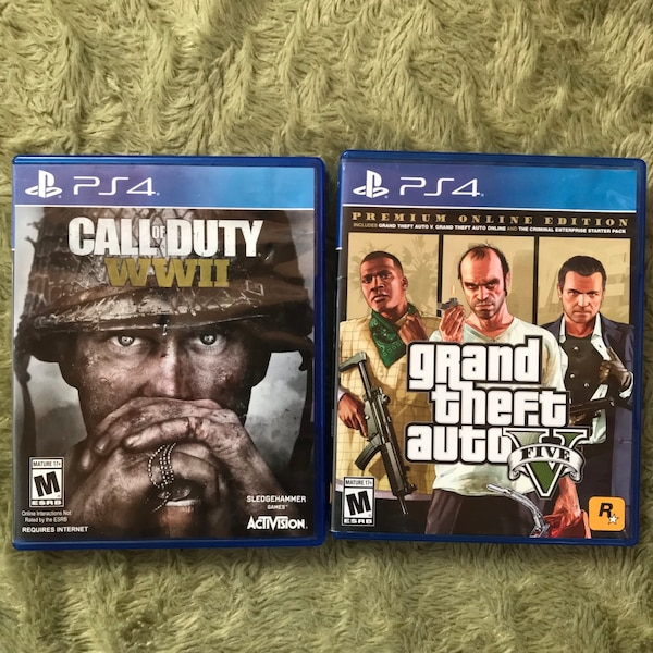 PS4 GTA5 & WWII