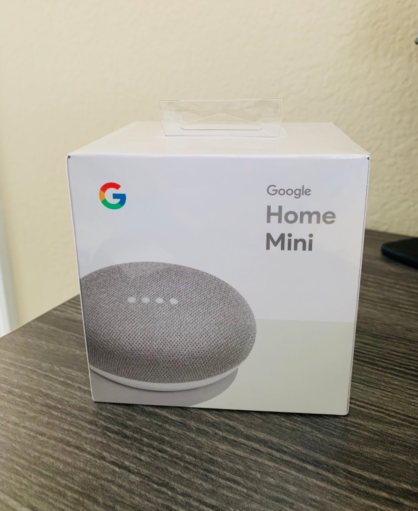 Smart Small Speaker Brand New Google Home Mini Chalk Grey