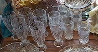two clear, vintage  cut glass sets