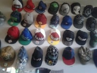 Over 300 different hats of many different styles