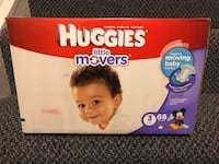 Huggies little movers diapers size 3 North Potomac, 20878