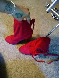 Red DSW boots size 6