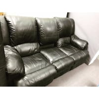 Black leather 2 couch seating set Toronto, M9W