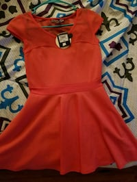 red and blue cap-sleeved dress Rockmart, 30153