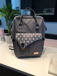 Baby Bag (Multi-function Baby Diaper Bag Backpack Waterproof Grey with Changing Pad & Insulated Pockets & Stroller Straps (Grey) Surrey, V4P 1E8