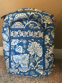 blue and white floral quilted travel luggage Lubbock, 79424