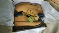 pair of brown Timberland work boots with box Dix Hills, 11746