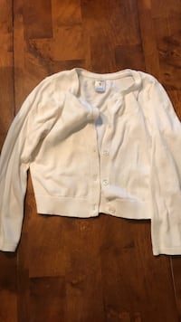 Girls white sweater size 5 Dallas, 30157