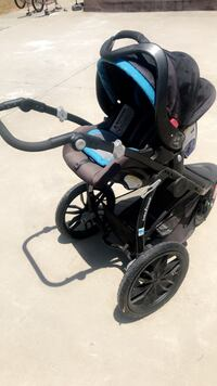 baby's black and blue jogging stroller Fontana, 92335