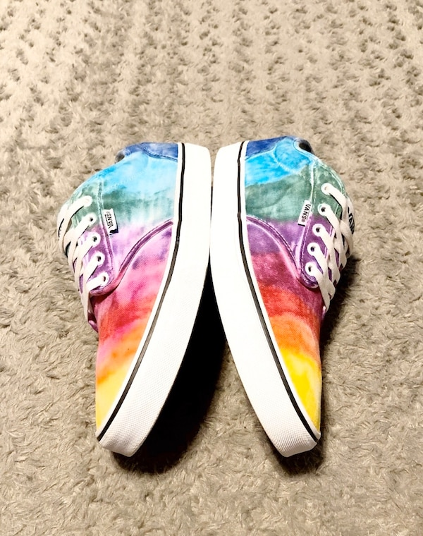 Vans Rainbow Tie Dye shoes paid $80 Size 9.5 Like new! Women's size 11 3