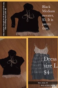 Black sweater & Dress please read picture for information . Pittsburg, 66762