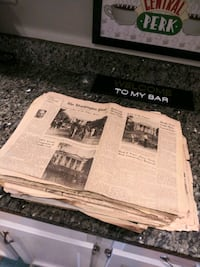Antique collectible newspaper lot