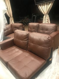 brown leather 3-seat sofa Los Angeles, 91405