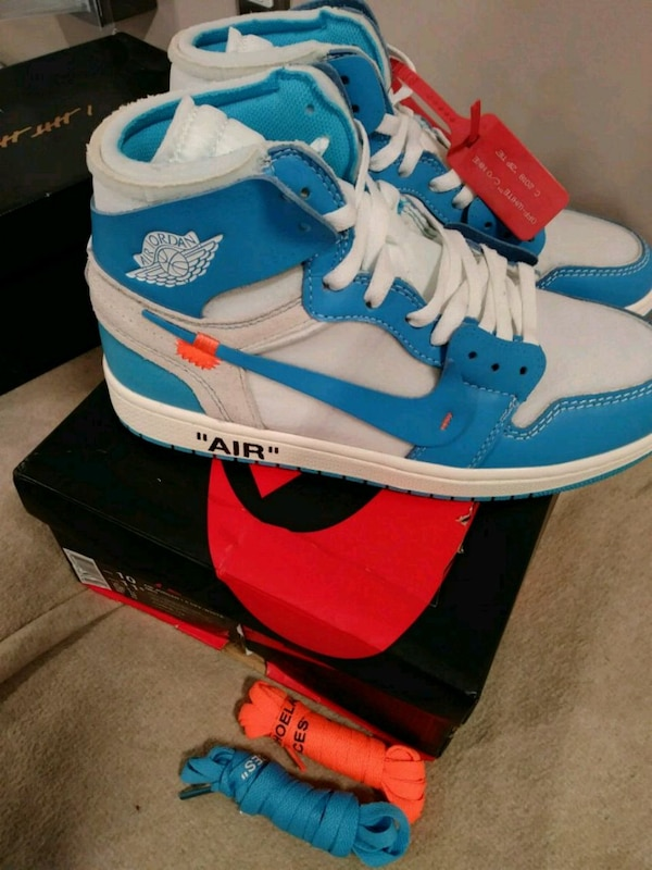 9d03c5cbc6c Used Air Jordan 1 Off White UNC (DS) size 10 for sale in New York - letgo