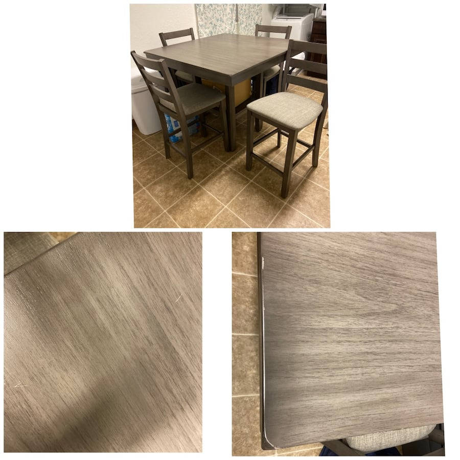 Grey Table Set 4 chairs