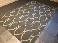"""Haverty's Blue and White Patterned Rug(96"""" x 62"""") SPRINGFIELD"""