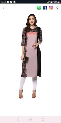 women's black and white long sleeve dress Mumbai, 400011