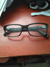black framed guess eyeglasses