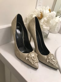 Gold glitter Versace shoes size 8 . Worn only 2 times  Mississauga, L5E 1C6